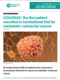 COLOSSUS: The first patient recruited in translational trial for metastatic colorectal cancer